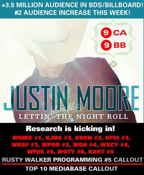 Justin Moore Lettin' The Night Roll (Valory Music)